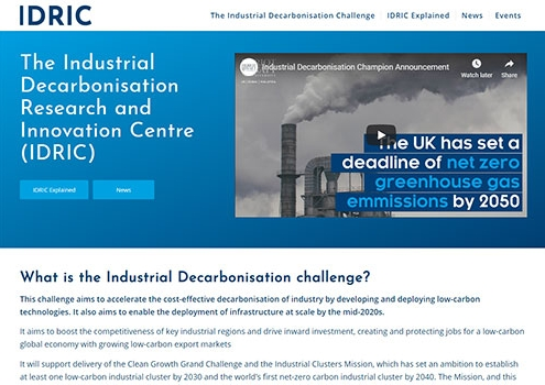 The Industrial Decarbonisation Research and Innovation Centre